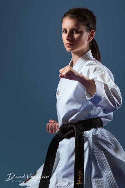 Championne de Karate Kata, Mahayan Righetti par David Vryghem