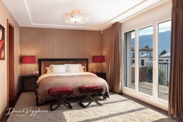 Chambre photographiée par un photographe immobilier professionnel - David Vryghem
