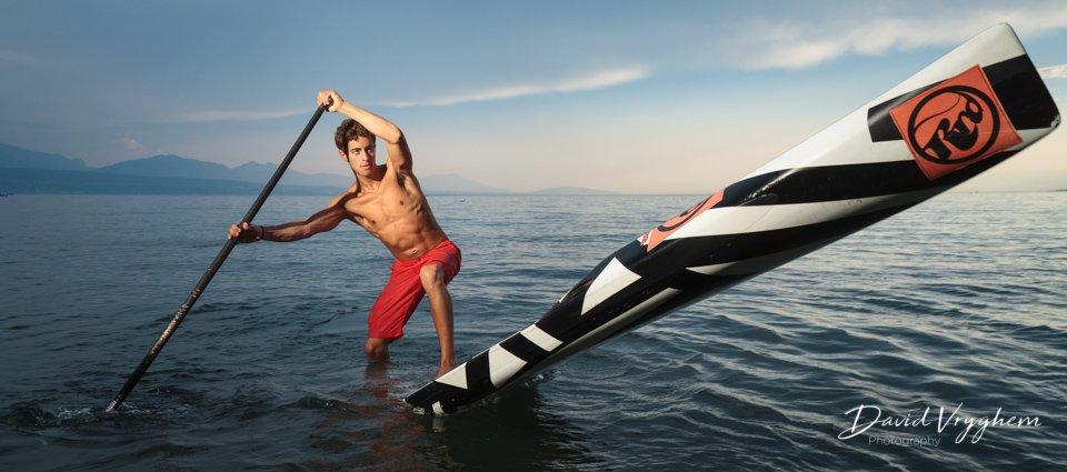 Hakim Dridah, Champion Suisse 2015 de Stand Up Paddle, à Lausanne